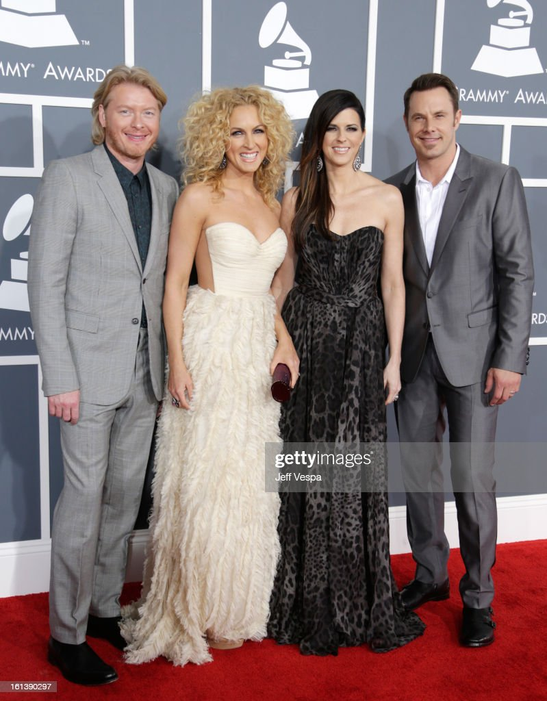 Phillip Sweet, Kimberly Schlapman, Karen Fairchild and Jimi Westbrook of Little Big Town attend the 55th Annual GRAMMY Awards at STAPLES Center on February 10, 2013 in Los Angeles, California.