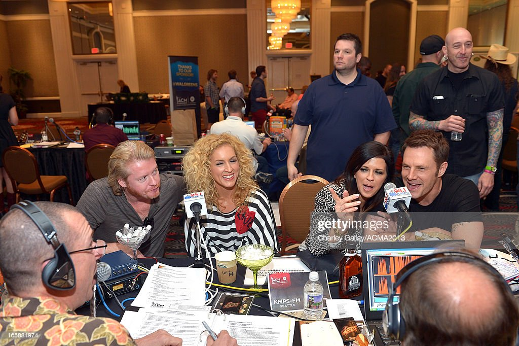 Phillip Sweet, Kimberly Schlapman, Karen Fairchild and Jimi Westbrook of music group Little Big Town attend the Dial Global Radio Remotes during the 48th Annual Academy of Country Music Awards at MGM Grand Garden Arena on April 6, 2013 in Las Vegas, Nevada.