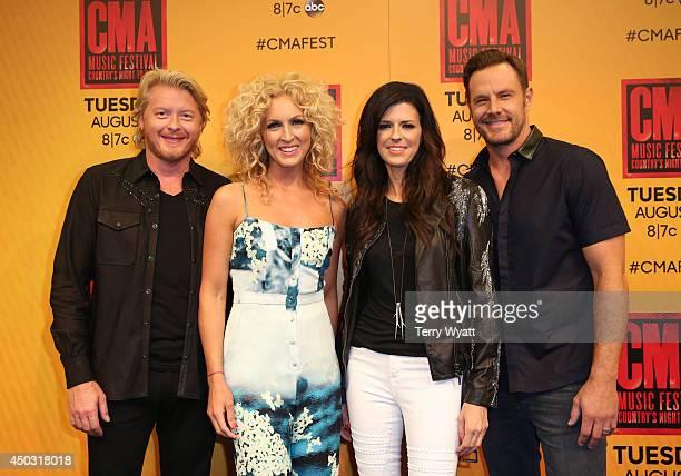 Phillip Sweet Kimberly Schlapman Karen Fairchild and Jimi Westbrook of Little Big Town attend the 2014 CMA Festival on June 8 2014 in Nashville...