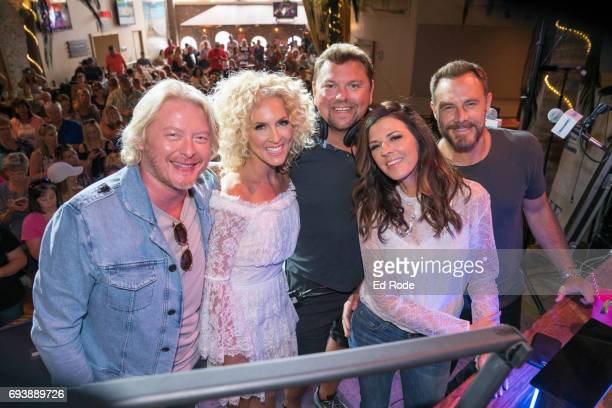 Phillip Sweet Kimberly Schlapman Storme Warren Karen Fairchild and Jimi Westbrook attend SiriusXM's The Music Row Happy Hour Live on The Highway at...
