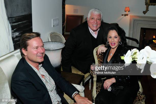 Phillip Wolf Dennis Basso and Nikki Haskell attend ALEX HITZ Party at Private Residence on March 6 2010 in Hollywood California