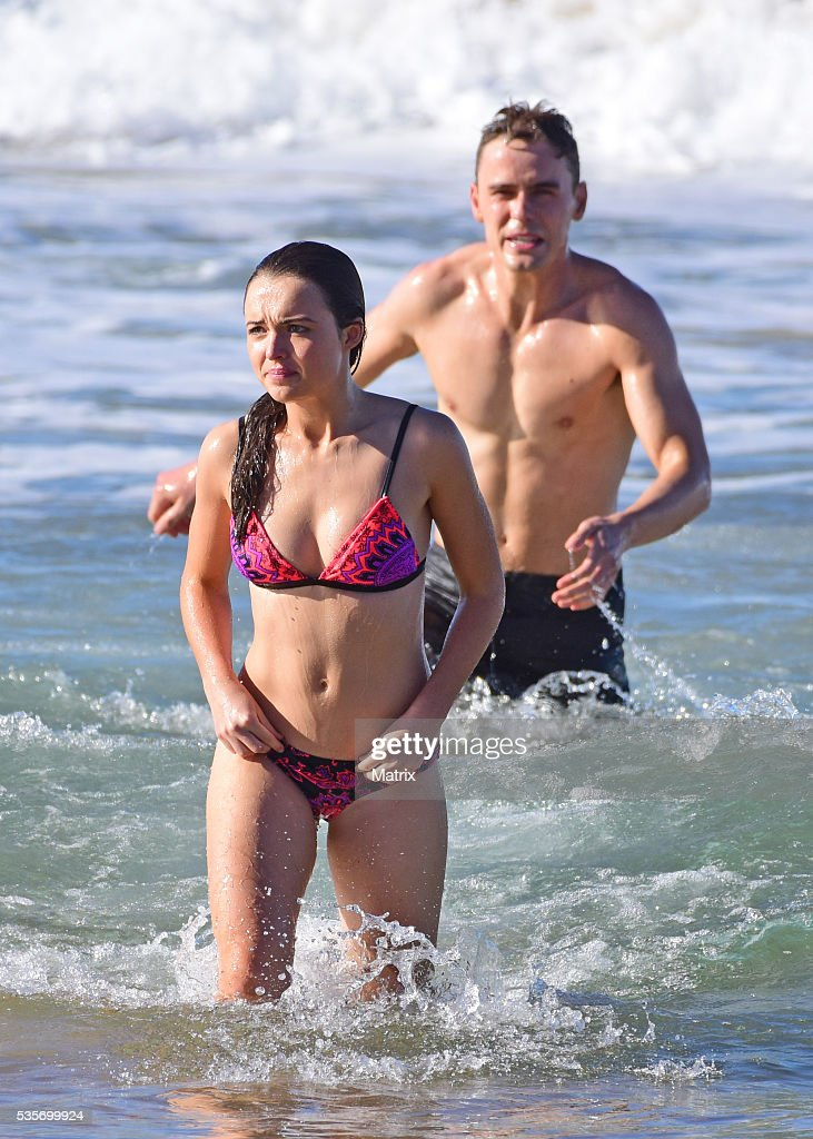 Phillipa Northeast and Alec Snow filming Home and Away on May 30, 2016 in Sydney, Australia.