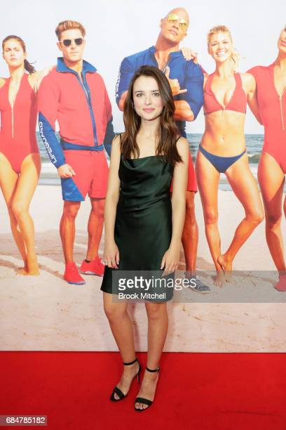 Phillipa Northeast attends the Australian premiere of 'Baywatch' at Hoyts EQ on May 18 2017 in Sydney Australia