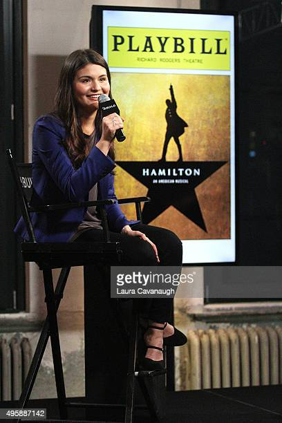Phillipa Soo attends AOL BUILD Series to discuss her role in Broadway's 'Hamilton' at AOL Studios In New York on November 5 2015 in New York City