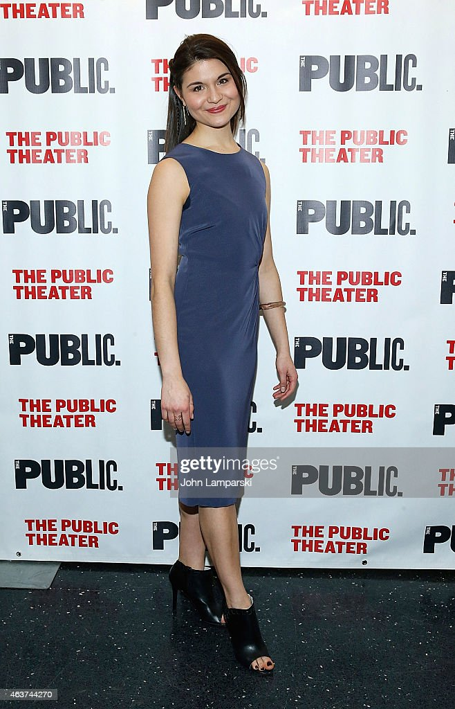 Phillipa Soo attends 'Hamilton' Opening Night at The Public Theater on February 17, 2015 in New York City.