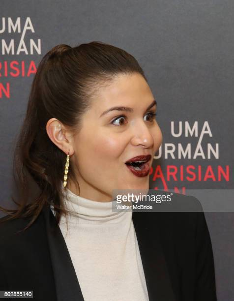 Phillipa Soo attends the Meet Greet Photo Call for the cast of Broadway's 'The Parisian Woman' at the New 42nd Street Studios on October 18 2017 in...