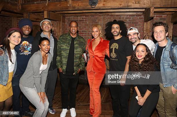 Phillipa Soo Okieriete Onaodowan Christopher Jackson Renee Elise Goldsberry Jay Z Beyonce Daveed Diggs Javier Munoz Jasmine Cephas Jones and Jonathan...