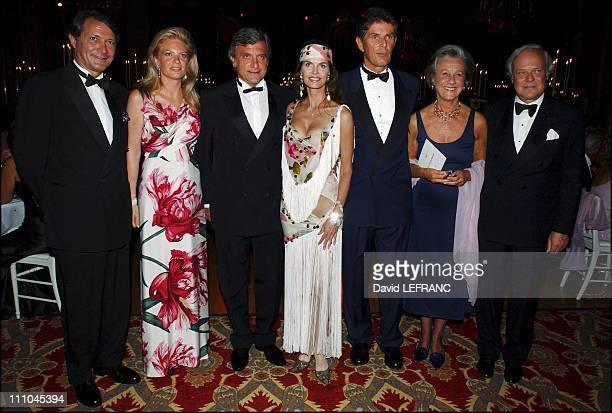 Phillipe Augier Baronne Edouard de Rothschild Sidney Toledano Dominique Desseigne Marina de Brantes and David de Rothschild in the salon for...