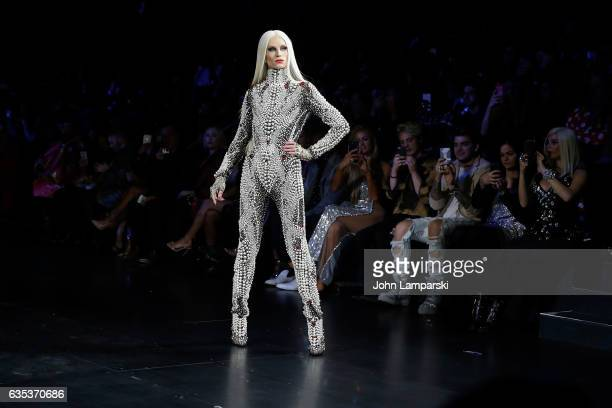 Phillipe Blond walks the runway at The Blonds fashion show during February 2017 New York Fashion Week presented by MADE at Gallery 1 Skylight...