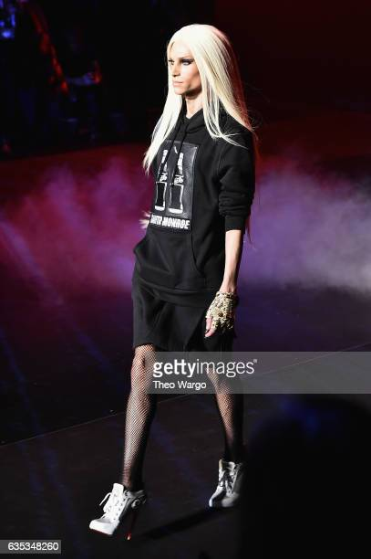 Phillipe Blond walks the runway at the The Blonds collection during New York Fashion Week The Shows at Gallery 1 Skylight Clarkson Sq on February 14...