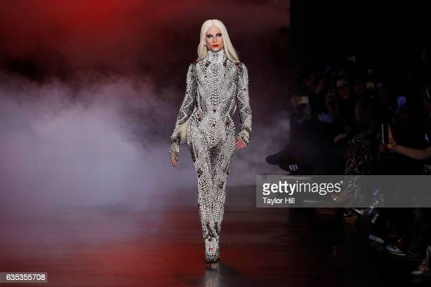Phillipe Blond walks the runway during The Blonds' Fall 2017 fashion show during New York Fashion Week at Gallery 1 Skylight Clarkson Sq on February...