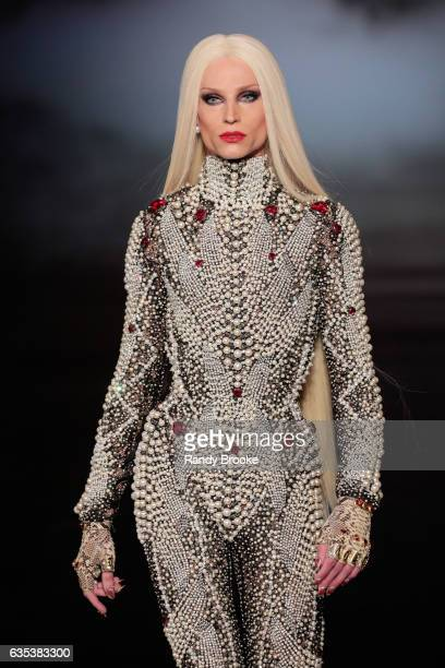 Phillipe Blond walks the runway during The Blonds February 2017 New York Fashion Week Presented by MADE at Gallery 1 Skylight Clarkson Sq on February...
