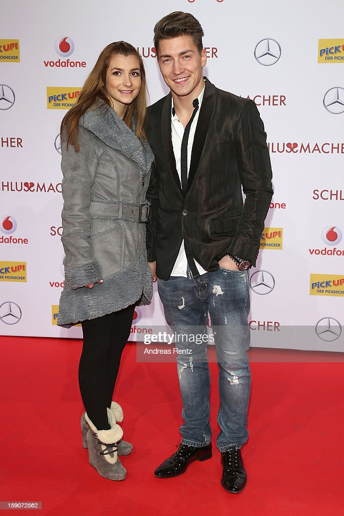 Phillipp Boy and partner attend the 'Der Schlussmacher' Berlin Premiere at Cinestar Potsdamer Platz on January 7, 2013 in Berlin, Germany.