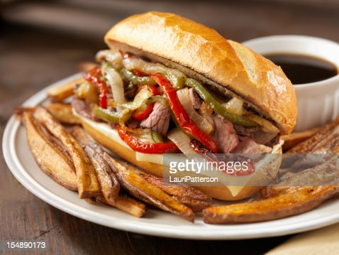 Philly Prime Rib Sandwich with Roasted Peppers