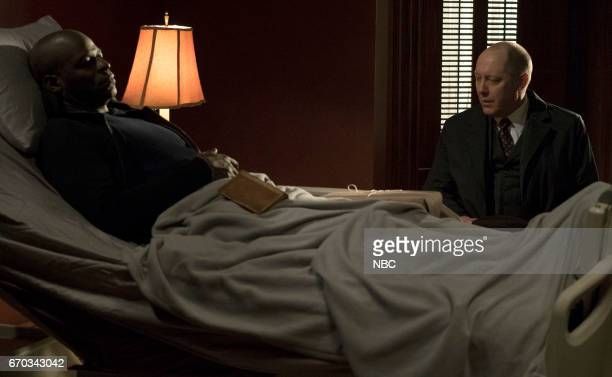 THE BLACKLIST 'Philomena' Episode 418 Pictured Hisham Tawfiq as Dembe Zuma James Spader as Raymond 'Red' Reddington