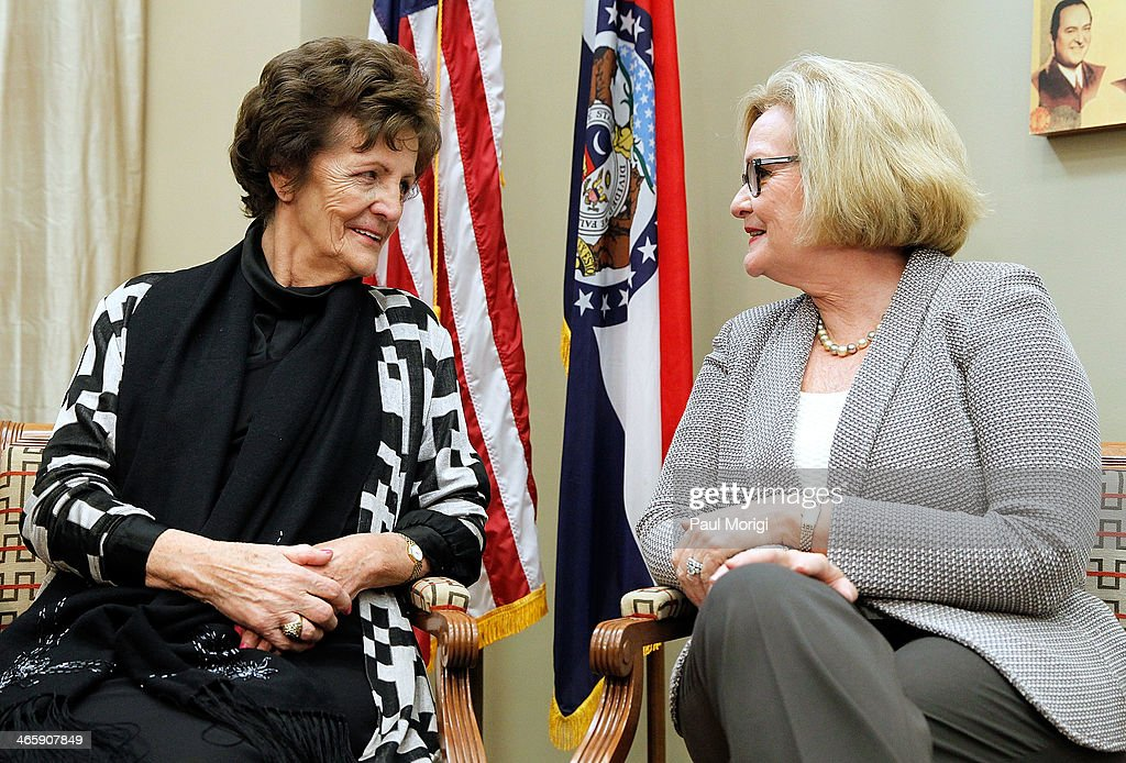 <a gi-track='captionPersonalityLinkClicked' href=/galleries/search?phrase=Philomena+Lee&family=editorial&specificpeople=11489545 ng-click='$event.stopPropagation()'>Philomena Lee</a> (L) and Senator <a gi-track='captionPersonalityLinkClicked' href=/galleries/search?phrase=Claire+McCaskill&family=editorial&specificpeople=3951404 ng-click='$event.stopPropagation()'>Claire McCaskill</a> (D-MO) (R) meet to discuss a new adoption initiative, The Philomena Project, at the Hart Senate Office Building on January 30, 2014 in Washington, DC.