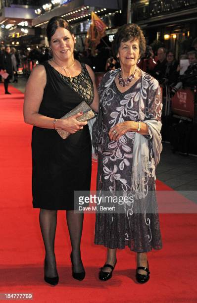 Philomena Lee attends the American Express Gala Screening of 'Philomena' during the 57th BFI London Film Festival at Odeon Leicester Square on...