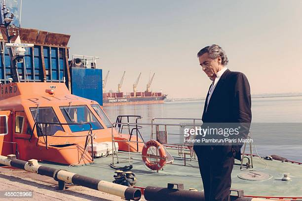Philosopher and writer Bernard Henri Levy is photographed for Paris Match whilst presenting his new work Hotel Europe on August 9 2014 in Odessa...
