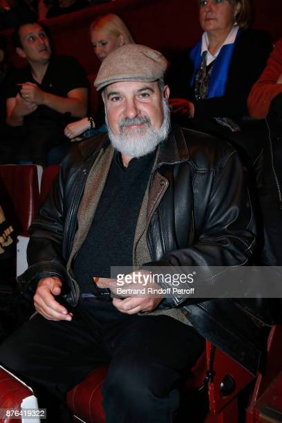 Philosopher MarcAlain Ouaknin attends 'Depardieu Chante Barbara' at 'Le Cirque D'Hiver' on November 18 2017 in Paris France