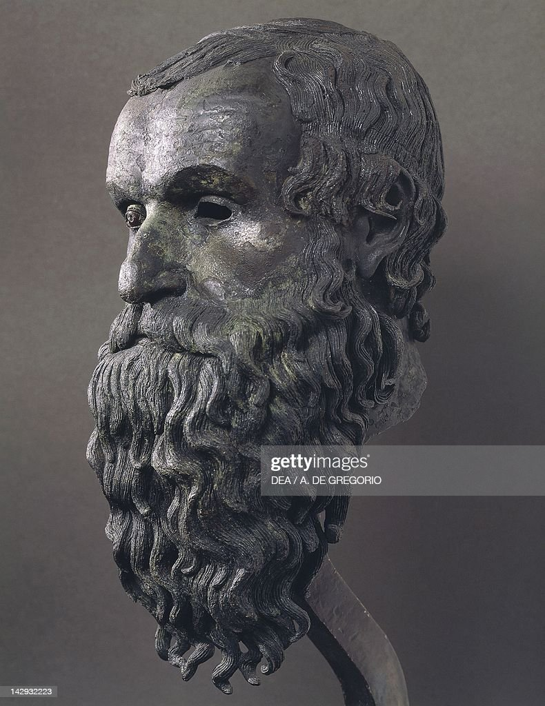 philosopher s head perhaps pythagoras of samos pictures getty philosopher s head perhaps pythagoras of samos bronze sculpture recovered from the waters in front