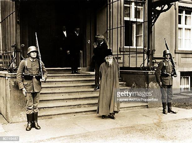 Philosophy Germany Sir Rabindranath Tagore Indian philosopher leaving the Berlin residence of President Hindenburg 1926