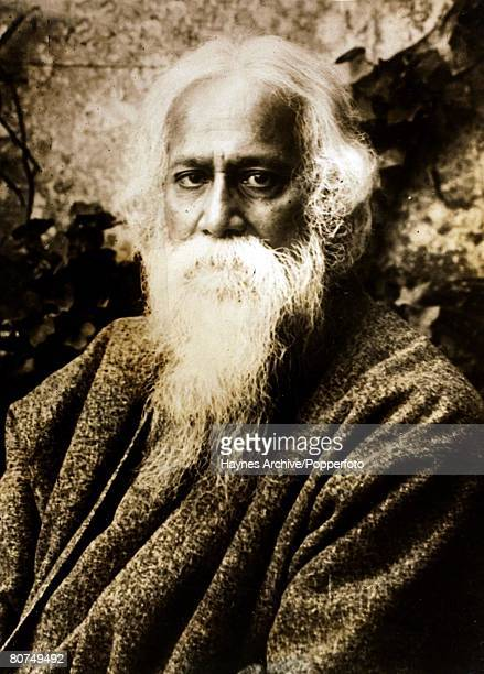 Philosophy Indian philosopher SirRabindranath Tagore Portrait1929
