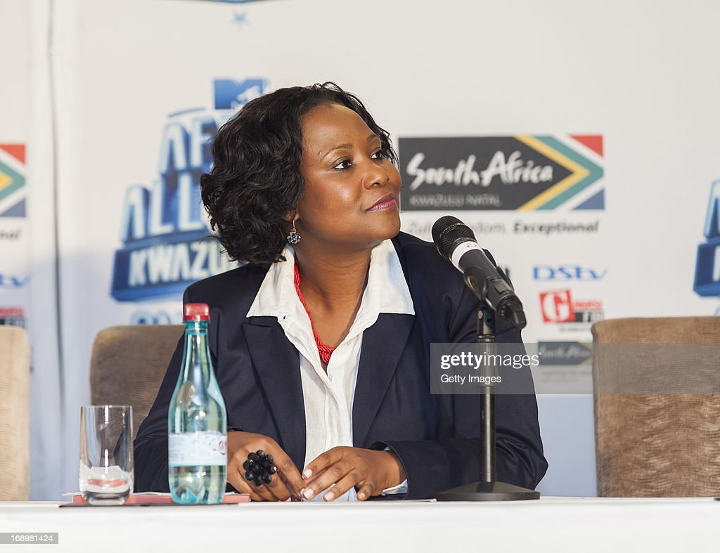 Phindile Ngcobo at the press conference for the MTV Africa All Stars Concert on May17, 2013 in Durban, South Africa. Snoop Dog or Snoop Lion as he is now also known will be the headline act for the Concert.