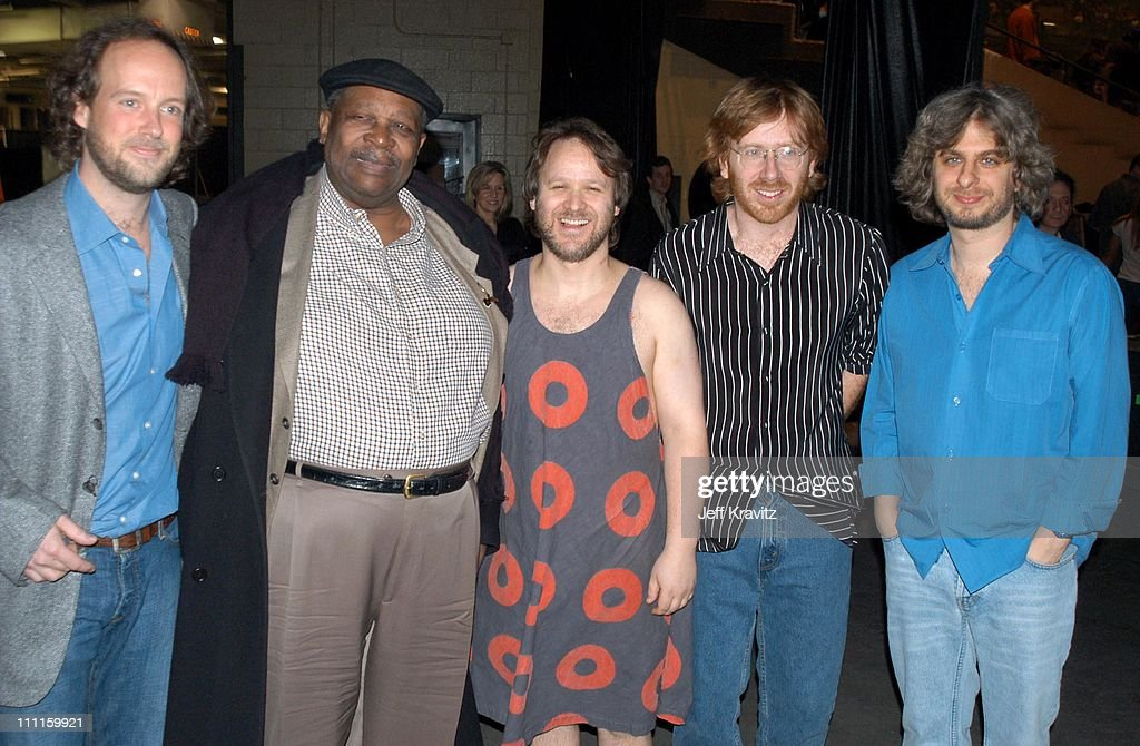 Phish & BB King during Phish Live in New Jersey at Continental Airlines Arena in Secaucus, New Jersey, United States.