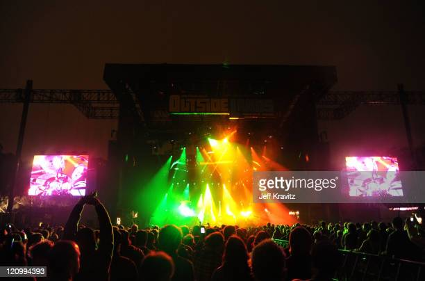 Phish performs at the Lands End Stage during the 2011 Outside Lands Music and Arts Festival held at Golden Gate Park on August 12 2011 in San...