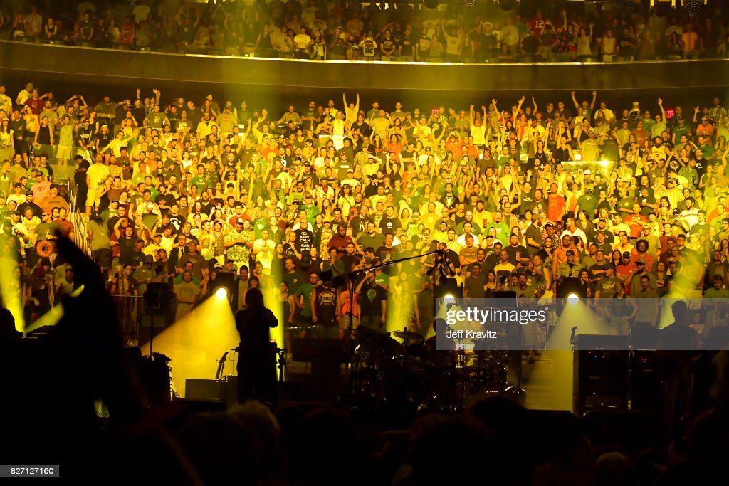 Phish performs during 'The Baker's Dozen' Closing Night at Madison Square Garden on August 6, 2017 in New York City.