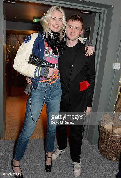 Phoebe Arnold and Jack Sunnucks attend a dinner to celebrate LCM and the exclusive launch of Nick Wooster's fashion line Wooster Lardini at...