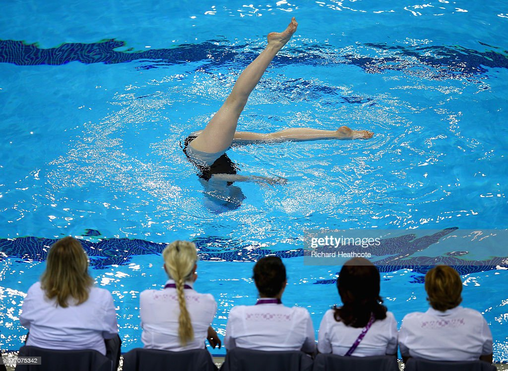 Phoebe Bradley-Smith of Great Britain in the Figures Synchronised Swimming during day two of the Baku 2015 European Games at Baku Aquatics Centre on June 14, 2015 in Baku, Azerbaijan.