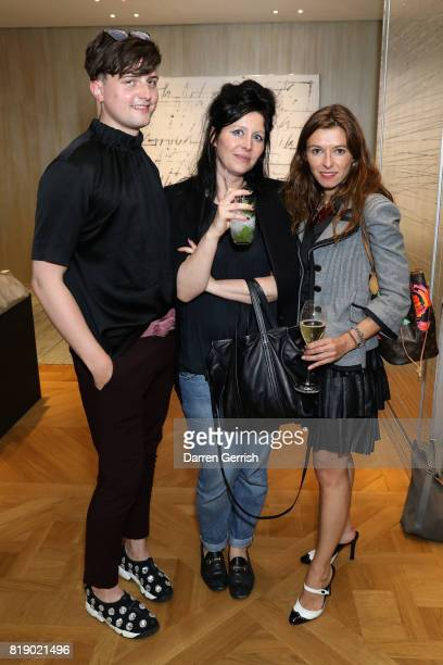 Phoebe Briggs and guests attend the Dior cocktail party to celebrate the launch of Dior Catwalk by Alexander Fury on July 19 2017 in London England