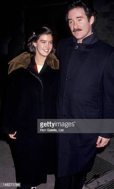 Phoebe Cates and Kevin Kline attend An Evening With Joe Papp Party on November 12 1989 in New York City