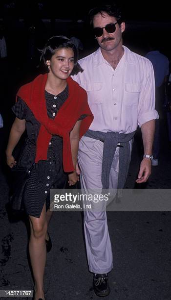 Phoebe Cates and Kevin Kline attend the performance of 'Twelfth Knight' on July 21 1989 at the Delacorte Theater in New York City