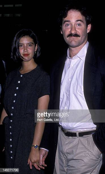 Phoebe Cates and Kevin Kline attend the premiere of 'Shag' on July 18 1989 at the Director's Guild Theater in Hollywood California
