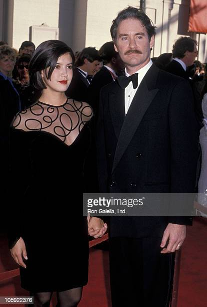 Phoebe Cates and Kevin Kline during 61st Annual Academy Awards Arrivals at Shrine Auditorium in Los Angeles California United States