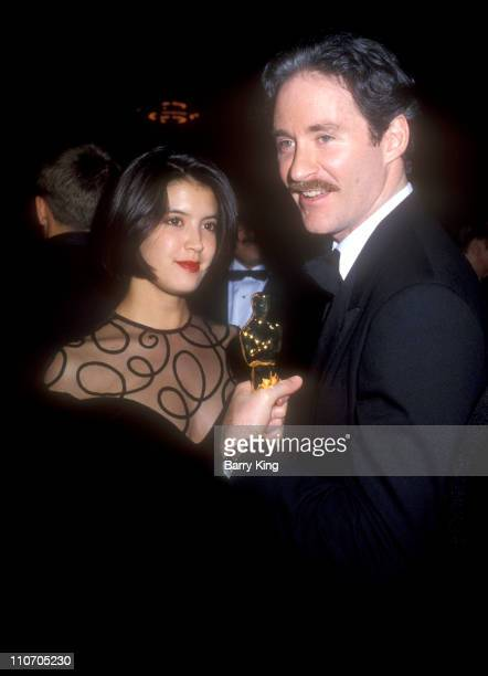 Phoebe Cates and Kevin Kline during 61st Annual Academy Awards Governor's Ball at Shrine Auditorium in Los Angeles California United States