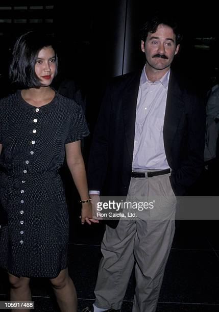 Phoebe Cates and Kevin Kline during Premiere of 'Shag' July 18 1989 at Directors Guild in Hollywood California United States