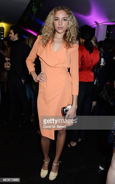 Phoebe CollingsJames attends the InStyle and EE Rising Star Party in association with Lancome Karen Millen and Sky Living at The Ace Hotel on...
