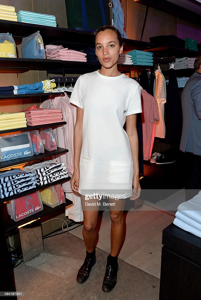 Phoebe Collings-James attends the Lacoste Store Reopening on May 28, 2014 in London, England.