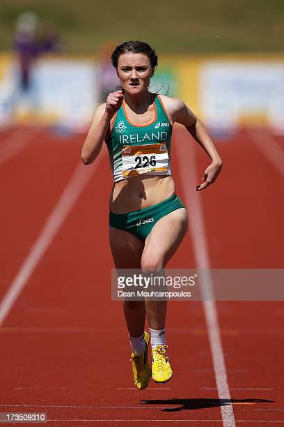 Phoebe Genevieve Murphy of Ireland competes in the Girls 100m heats during the European Youth Olympic Festival held at the Athletics Track...
