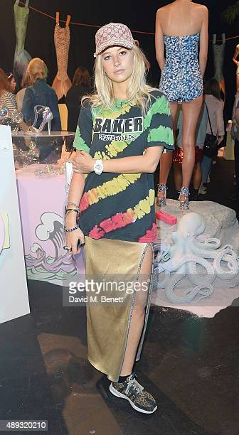 Phoebe Lettice attends the Sophia Webster presentation during London Fashion Week SS16 at The Hospital Club on September 20 2015 in London England