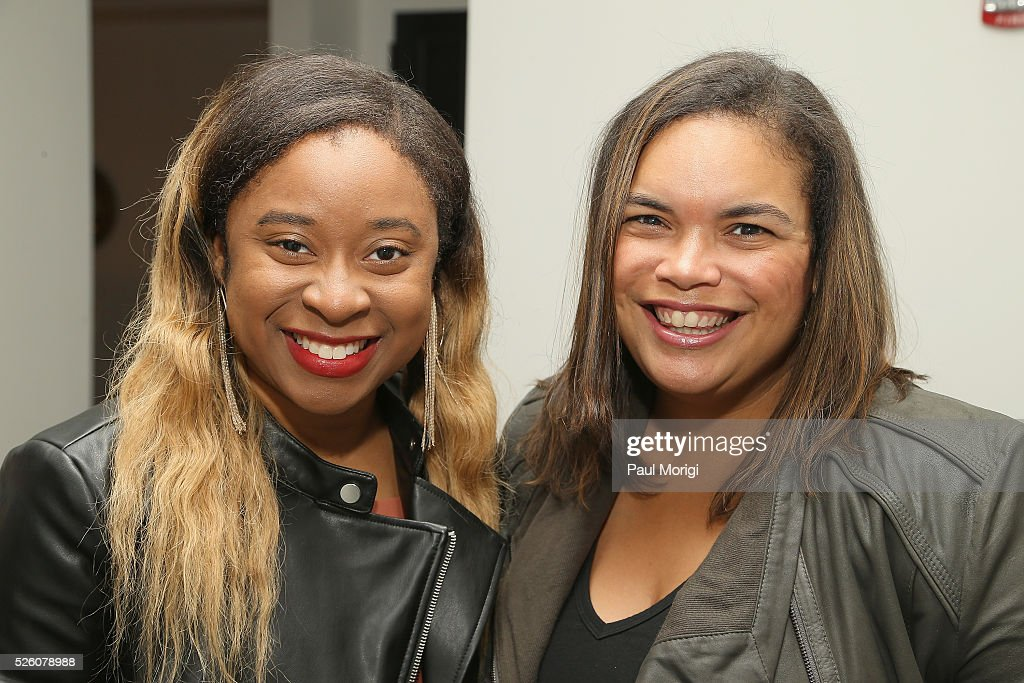Phoebe Robinson and Government & Politics Outreach Manager at Facebook, Crystal Patterson attends the Glamour and Facebook brunch to discuss sexism in 2016, during WHCD Weekend at Kinship on April 29, 2016 in Washington, DC.