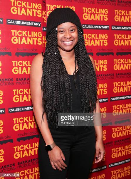 Phoebe Robinson attends 'Tickling Giants' New York premiere at IFC Center on March 16 2017 in New York City