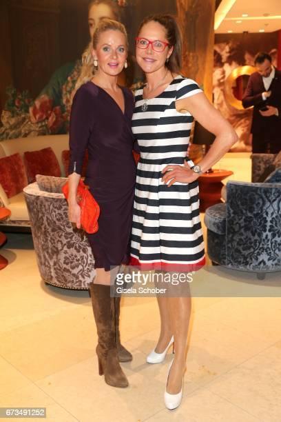 Phoebe Rocchi and Doreen Dietel during the Lovely Friends Fashion Lunch benefit to 'Children for a better world eV' at Hotel Vier Jahreszeiten on...