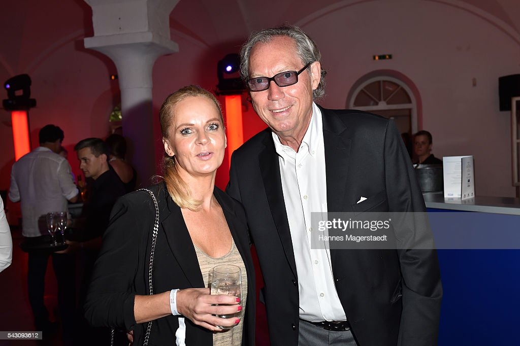 Phoebe Rocchi and Werner Mang during the Audi Director's Cut during the Munich Film Festival 2016 at Praterinsel on June 25, 2016 in Munich, Germany.