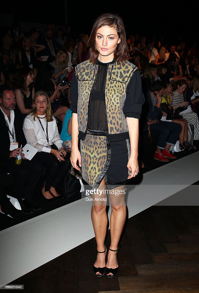 Phoebe Tonkin attends the Camilla and Marc show during Mercedes-Benz Fashion Week Australia Spring/Summer 2013/14 at Carriageworks on April 8, 2013 in Sydney, Australia.