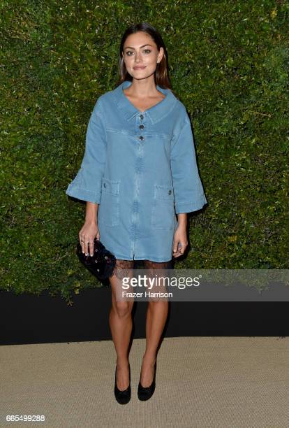 Phoebe Tonkin attends the celebration of Chanel's Gabrielle Bag hosted by Caroline De Maigret and Pharrell Williams at Giorgio Baldi on April 6 2017...