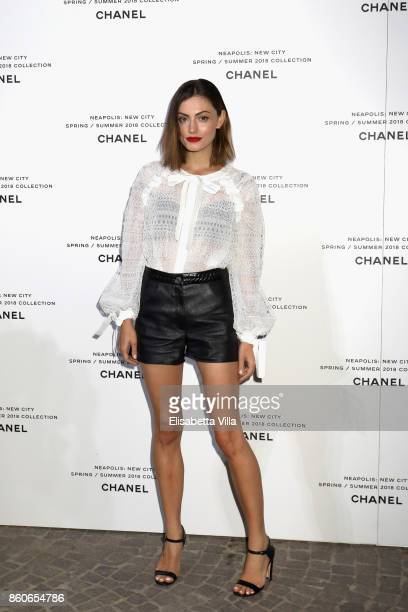 Phoebe Tonkin attends the launch of Lucia Pica's Chanel SpringSummer 2018 Make up Collection on October 12 2017 in Naples Italy